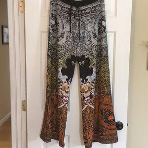 Clover Canyon Printed Wideleg Pants